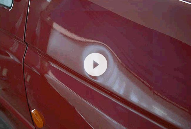 Dent removal example